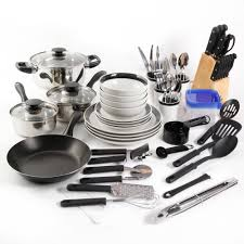 Kitchen Set Gibson Carmelita Stripes 16 Piece Dinnerware Set Walmart Com