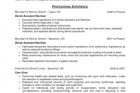 Sample Dental Assistant Resume by Dental Assistant Resume Objective Examples Reentrycorps
