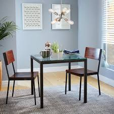 Modern Glass Square Dining Table Box Frame Square Dining Table Glass West Elm Au