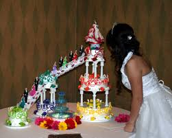 quinceanera cakes 1471 multicolor and multilayer quinceanera cake abc cake shop