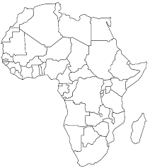 africa map drawing coloring africa picture