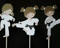 karate cake topper karate girl topper etsy