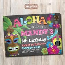hawiian luau birthday party invitations free by kooserdesign