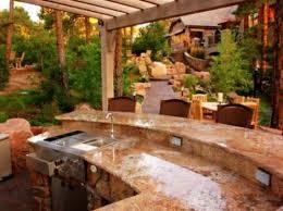 marmorplatte küche küche mit grill marmor platte spüle gartenanlagen