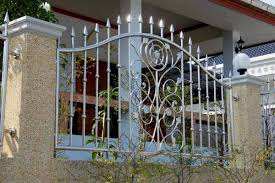 Front Yard Metal Fences - front yard ornate stainless steel fences benefits using