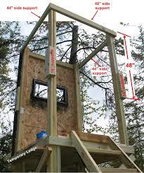 Building A Hunting Blind Diy Deer Stand View Source More Tree Stand Free Plans Homemade
