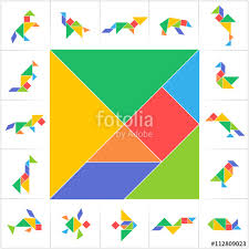 printable tangram tangram set printable solution cards for traditional chinese puzzle