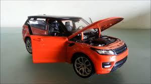 orange range rover sport welly land rover range rover sport 1 24 orange unboxing review
