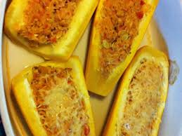 courgettes jaunes farcies au poulet recette de courgettes jaunes