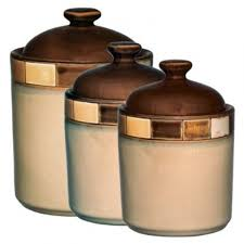 Pottery Kitchen Canisters Designer Kitchen Canister Sets