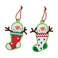 thumbprint snowman ornament craft kit
