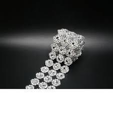 bling ribbon diamond mesh bling ribbon wrap flower wedding cake candle