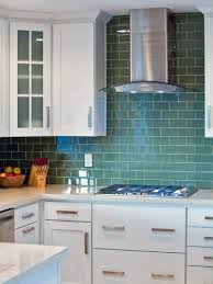 kitchen sea green glass tile backsplash home decorating interior