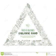 triangle frame border pattern organic farm fresh fruits and
