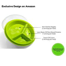amazon com precise portions 2 go healthy portion control plates