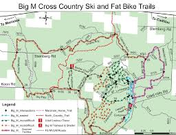Scc Map Big M Ski Area Map With Winter Grooming Info Shoreline Cycling