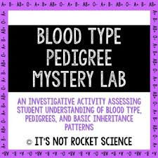 blood type and pedigree mystery lab activity blood types