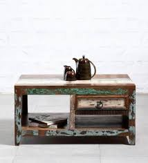 bombay trunk coffee table buy tynisha coffee table in distress finish by bohemiana online