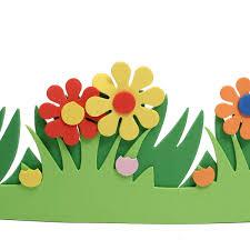Wall Decoration For Preschool by Children Kids Foam Flower Grass Garden Railings Kindergarten Art
