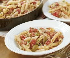 pasta recipes pasta with tuna tomato green olives recipe finecooking