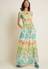 what is a maxi dress muster the length maxi dress in floral dots modcloth