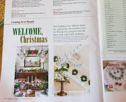 Home Goods Holiday Decor Far Above Rubies Romantic Homes Magazine Christmas Feature