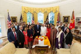 trump celebrates diwali in oval office स र फ news
