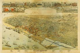 Map Of Austin Tx Galveston Texas 1885 Bird U0027s Eye View Old Map Battlemaps Us