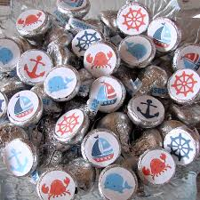 Candy Labels For Candy Buffet by Nautical Party Candy Stickers Chocolate Kiss Candy Labels