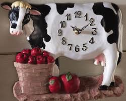 Kitchen Apples Home Decor Betsy Farm Kitchen Cow Apples Wall Decor Clock New In The Home
