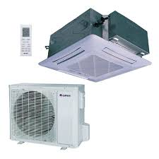 gree 24 000 btu 2 ton ductless ceiling cassette mini split air