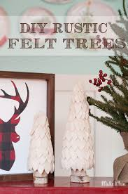 rustic felt christmas trees christmas decorations