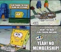 Club Penguin Memes - spongebob hype stand imgflip