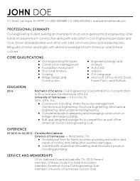 engineering resume template word one page resume template word civil engineer sle throughout