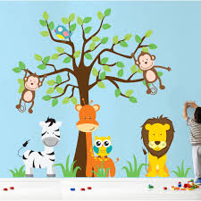 wall stickers for nursery jungle color the walls of your house wall stickers for nursery jungle wall decal source nursery jungle tree giraffe and
