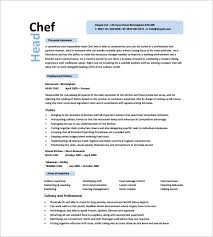 Free Sample Resume Template by Chef Resume Template U2013 11 Free Samples Examples Psd Format