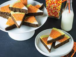 halloween treat candy corn brownies recipe hgtv