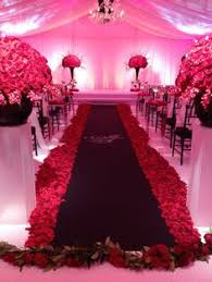 black aisle runner an black tie wedding in atlanta munaluchi bridal
