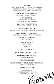 wedding reception program template wedding ceremony program outline template