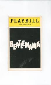 beatlemania playbill winter garden theatre 1979 souvenir