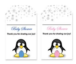 penguin baby shower penguin theme printable baby shower thank you tags