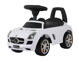 mercedes white amazon com best ride on cars mercedes benz sls amg push car