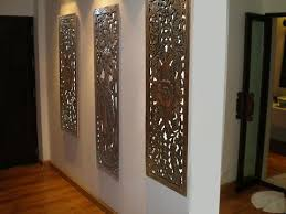 3 panel wood wall multi panels home decor wood carved floral wall