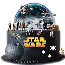 starwars cakes stand up wars cake premium edible wafer paper cake