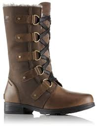 womens sorel boots sale canada s emelie lace up insulated waterproof leather and suede boot