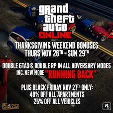 car sales black friday gta online thanksgiving specials double gta u0026 rp in all