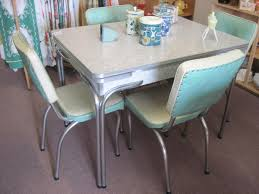 vintage dining room set fresh red retro kitchen chairs taste