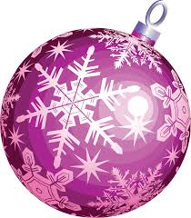 purple ball christmas christmas tree decoration png and