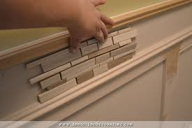 Wainscoting Pre Made Panels - recessed panel wainscoting with tile accent u2013 part 1