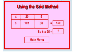 grid method for multiplication the year 4 at bearwood blog